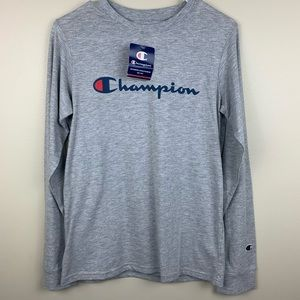 Champion Kid's gray long sleeve XL New with tags